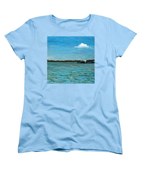 Women's T-Shirt (Standard Cut) featuring the painting No Rain Today by Suzanne McKee