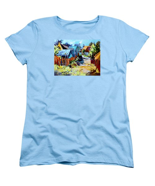 Women's T-Shirt (Standard Cut) featuring the painting No Through Road by Rae Andrews