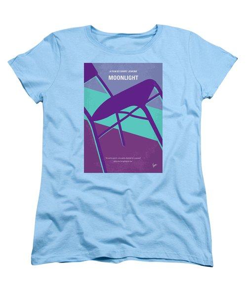Women's T-Shirt (Standard Cut) featuring the digital art No757 My Moonlight Minimal Movie Poster by Chungkong Art
