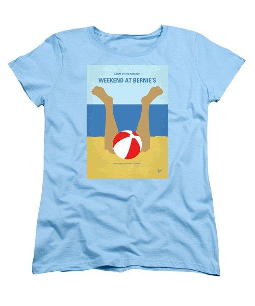 Women's T-Shirt (Standard Cut) featuring the digital art No765 My Weekend At Bernies Minimal Movie Poster by Chungkong Art
