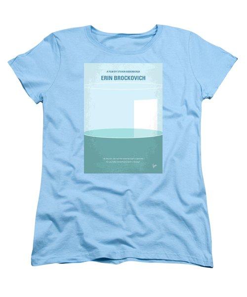 Women's T-Shirt (Standard Cut) featuring the digital art No769 My Erin Brockovich Minimal Movie Poster by Chungkong Art