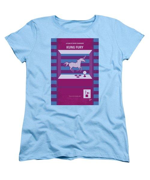 Women's T-Shirt (Standard Cut) featuring the digital art No770 My Kung Fury Minimal Movie Poster by Chungkong Art