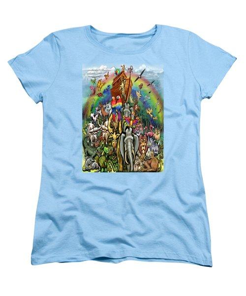 Noah's Ark Women's T-Shirt (Standard Cut) by Kevin Middleton