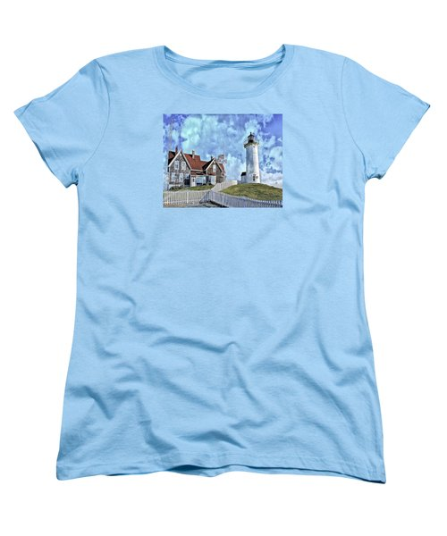 Nobska Point Lighthouse Falmouth Cape Cod Women's T-Shirt (Standard Cut) by Constantine Gregory