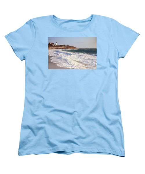 Nobska Point Seascape Women's T-Shirt (Standard Cut) by Roupen  Baker