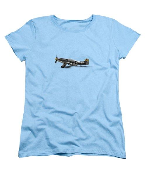 North American P-51 Mustang Women's T-Shirt (Standard Cut) by Douglas Pittman