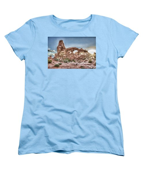 Women's T-Shirt (Standard Cut) featuring the photograph North Window Sundown Star by Daniel Hebard