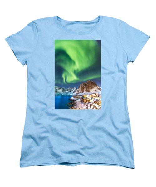 Northern Lights In Hamnoy Women's T-Shirt (Standard Cut)