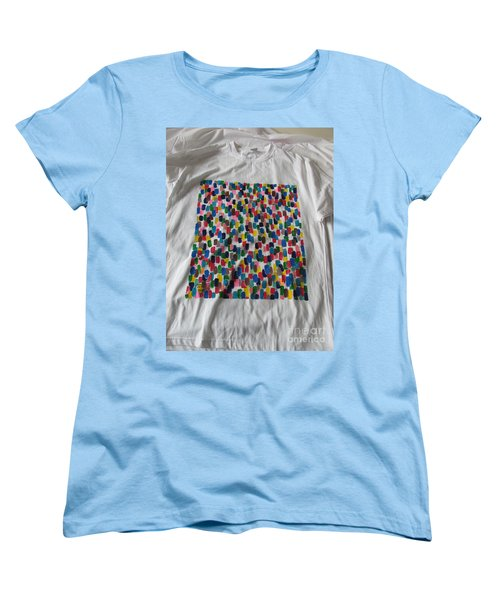 Women's T-Shirt (Standard Cut) featuring the painting Northwood Way by Mudiama Kammoh