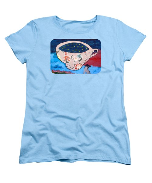 Women's T-Shirt (Standard Cut) featuring the photograph Not My Cup Of Tea by Ethna Gillespie
