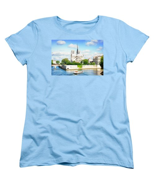 Notre Dame Cathedral, Paris France Women's T-Shirt (Standard Cut) by Anastasy Yarmolovich