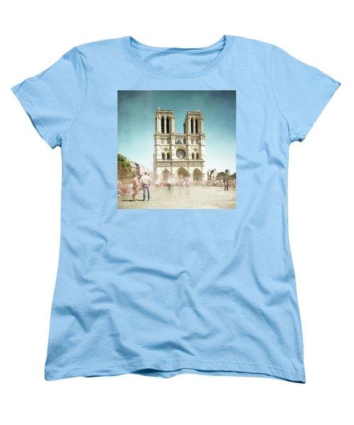 Women's T-Shirt (Standard Cut) featuring the photograph Notre Dame by Hannes Cmarits