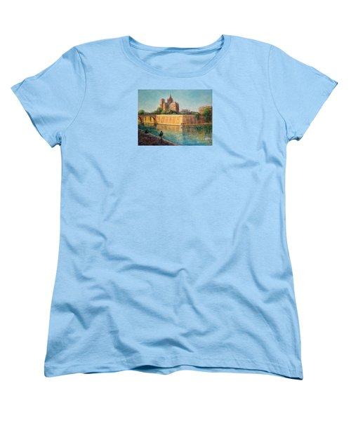 Notre Dame In Sunshine Women's T-Shirt (Standard Cut) by Jill Musser
