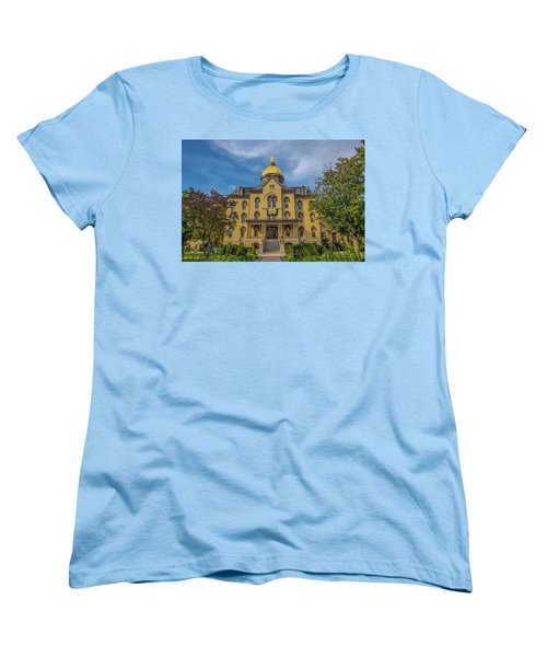 Notre Dame University Golden Dome Women's T-Shirt (Standard Cut) by David Haskett