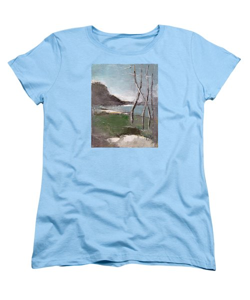 Women's T-Shirt (Standard Cut) featuring the painting November by Becky Kim