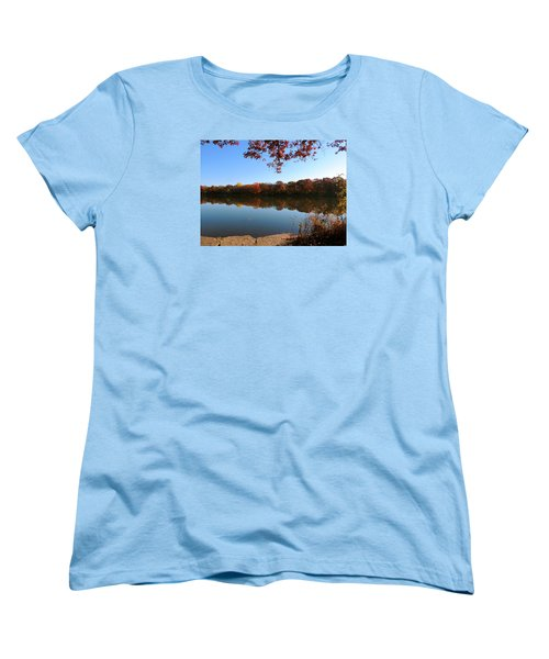 Women's T-Shirt (Standard Cut) featuring the photograph November Colors by Teresa Schomig