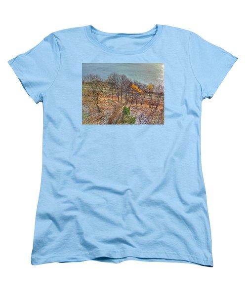 November Snow On Casco Bay Women's T-Shirt (Standard Cut)