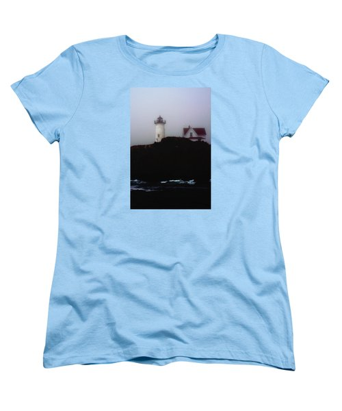 Nubble Light House Women's T-Shirt (Standard Cut) by Richard Ortolano