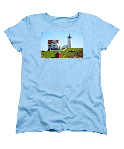 Nubble Lighthouse Women's T-Shirt (Standard Cut) by Eric Tressler