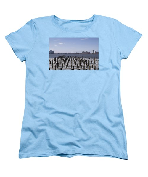 New York City Piers  Women's T-Shirt (Standard Cut) by Henri Irizarri