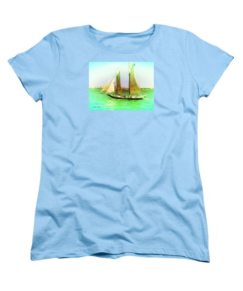 Nyc Sailing Women's T-Shirt (Standard Cut) by Denise Tomasura