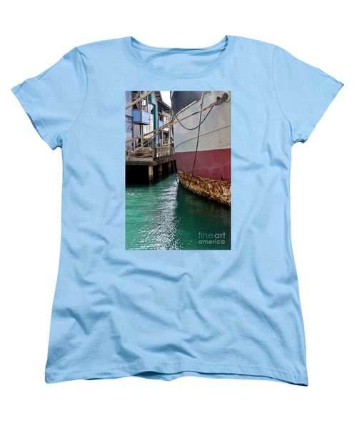 Women's T-Shirt (Standard Cut) featuring the photograph Oahu Harbor by Gina Savage