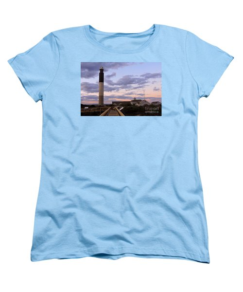 Oak Island Lighthouse Women's T-Shirt (Standard Cut) by Shelia Kempf