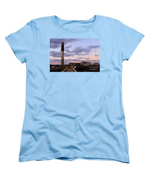 Oak Island Lighthouse Women's T-Shirt (Standard Cut) by Shelia Kempf