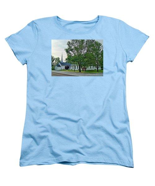 Women's T-Shirt (Standard Cut) featuring the photograph Oakland Christian Church by Cricket Hackmann