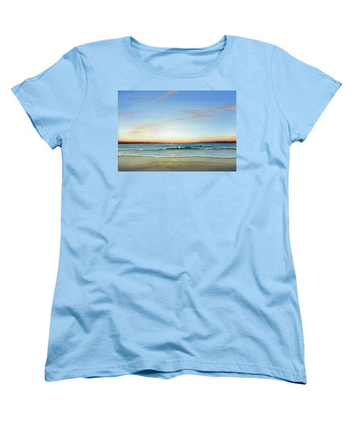 Women's T-Shirt (Standard Cut) featuring the painting Obx Sunrise by Albert Puskaric
