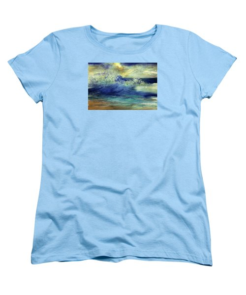 Women's T-Shirt (Standard Cut) featuring the painting Ocean by Allison Ashton