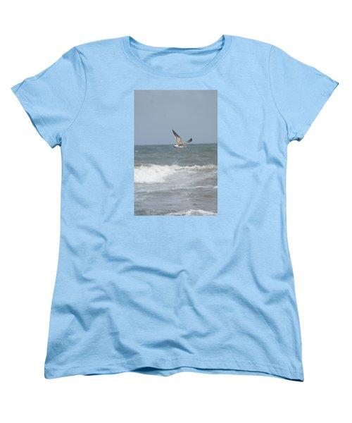 Women's T-Shirt (Standard Cut) featuring the photograph Ocean Breeze by Heidi Poulin