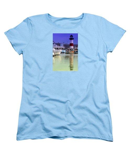 Oceanside Light Women's T-Shirt (Standard Cut) by DJ Florek