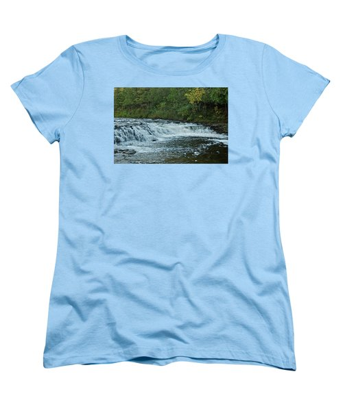Ocqueoc Falls_9535 Women's T-Shirt (Standard Cut) by Michael Peychich