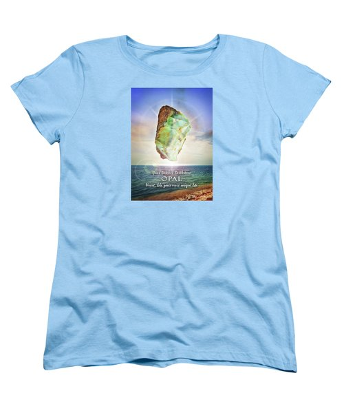 October Birthstone Opal Women's T-Shirt (Standard Cut)