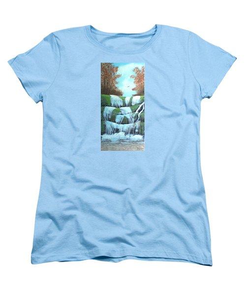 October Falls Women's T-Shirt (Standard Cut) by Brenda Bonfield