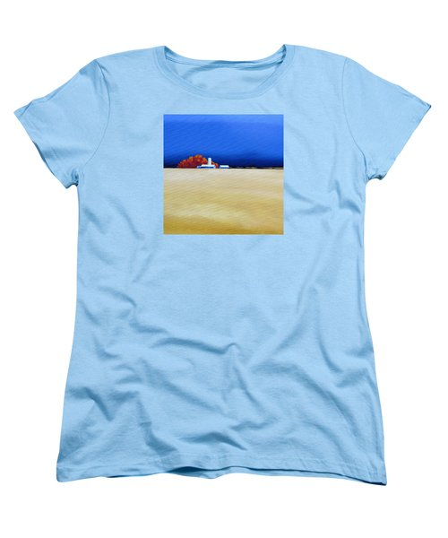Women's T-Shirt (Standard Cut) featuring the painting October Fields by Jo Appleby