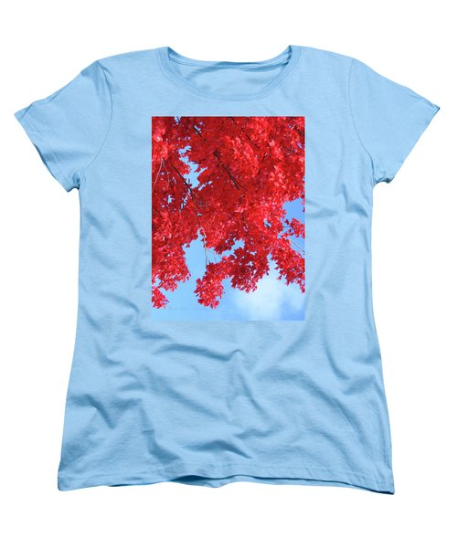 October In The Valley - Fire In The Sky Women's T-Shirt (Standard Cut) by Brooks Garten Hauschild