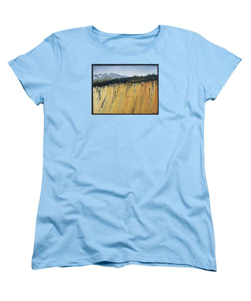 Of Bluff And Mountain Women's T-Shirt (Standard Cut) by Carolyn Doe