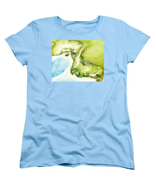 Women's T-Shirt (Standard Cut) featuring the digital art Of Earth And Water by Michelle H
