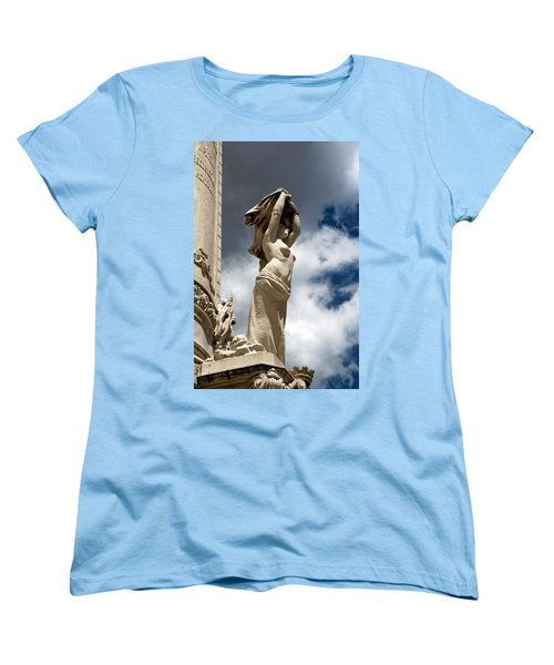 Of Shadow And Sky In Marquis De Pombal Square Women's T-Shirt (Standard Cut) by Lorraine Devon Wilke