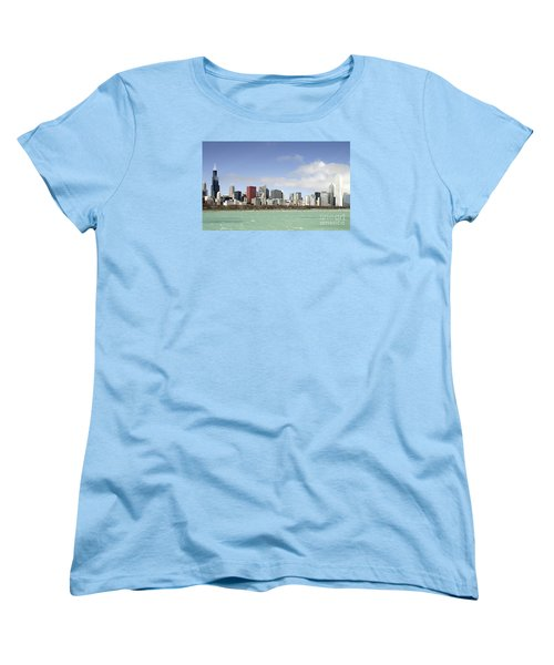Off The Shore Of Chicago Women's T-Shirt (Standard Cut) by Ricky L Jones