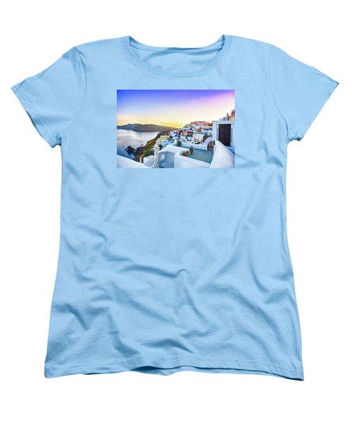 Oia, Santorini - Greece Women's T-Shirt (Standard Cut) by Stavros Argyropoulos