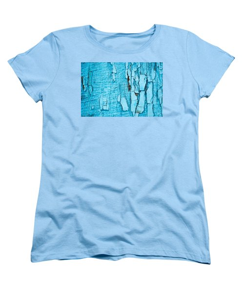 Women's T-Shirt (Standard Cut) featuring the photograph Old Blue Wood by John Williams
