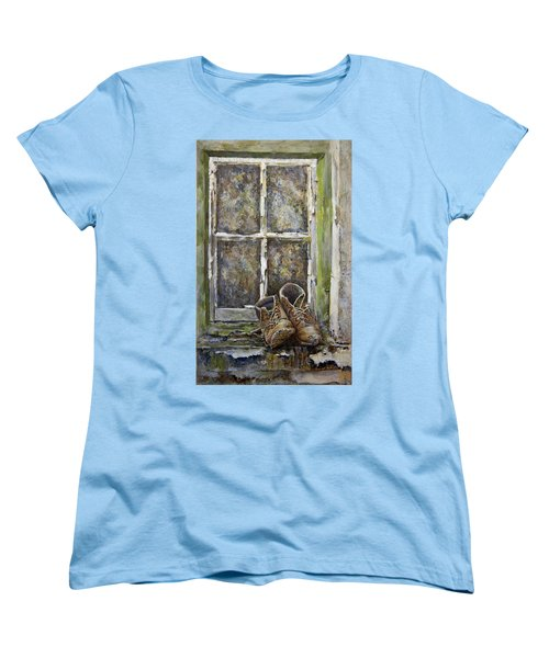 Old Boots Women's T-Shirt (Standard Cut) by Marty Garland