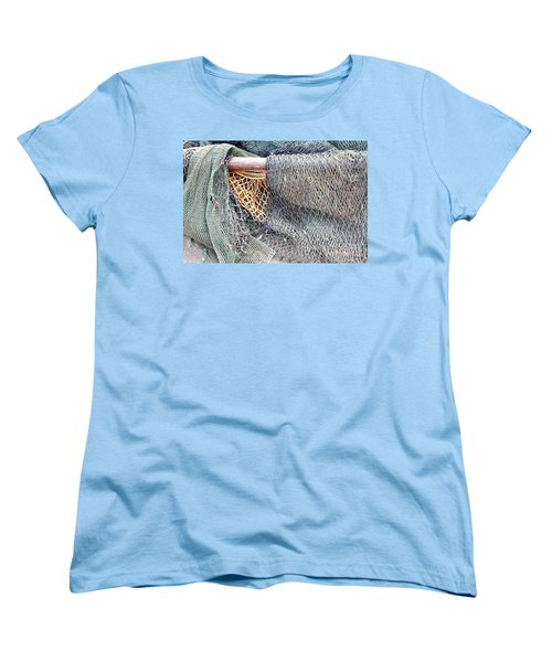 Women's T-Shirt (Standard Cut) featuring the photograph Old Discarded Fishing Nets by Yali Shi