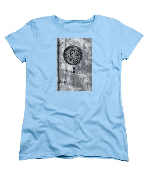 Women's T-Shirt (Standard Cut) featuring the photograph Old Doorknob by Tom Singleton