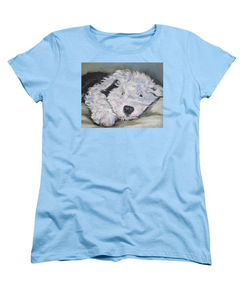 Old English Sheepdog Pup Women's T-Shirt (Standard Cut) by Lee Ann Shepard