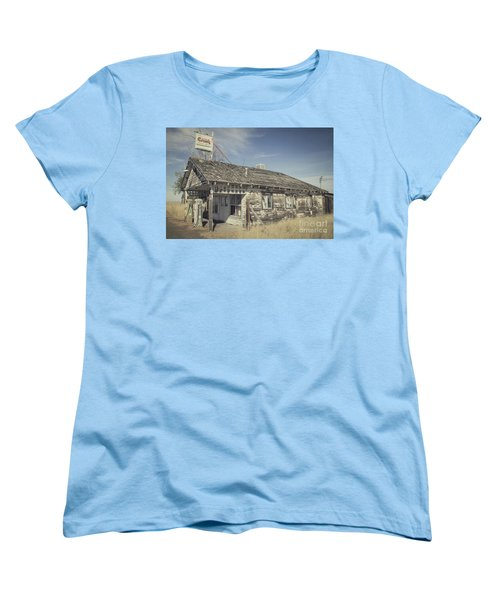 Women's T-Shirt (Standard Cut) featuring the photograph Old Gas Station by Robert Bales