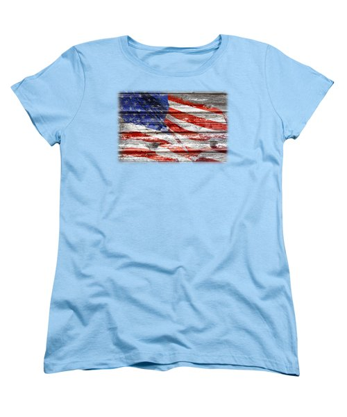 Old Glory Women's T-Shirt (Standard Cut) by Phyllis Denton